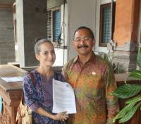 PENANDATANGAN MOU ANTARA INTERNATIONAL FOUNDATION FOR DHARMA NATURE TIME A.N. DHARMA NATURE TIME INSTITUTE DAN UNIVERSITAS UDAYANA